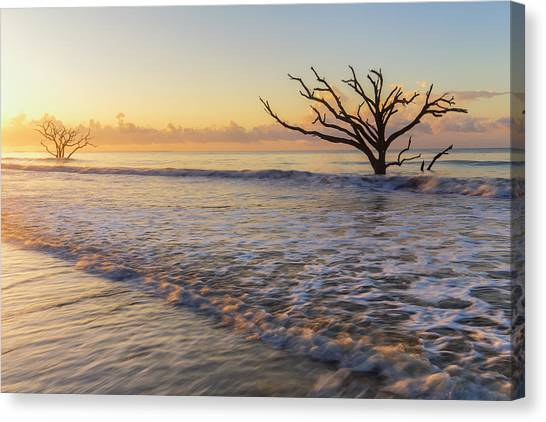 Morning Glow At Botany Bay Beach Canvas Print