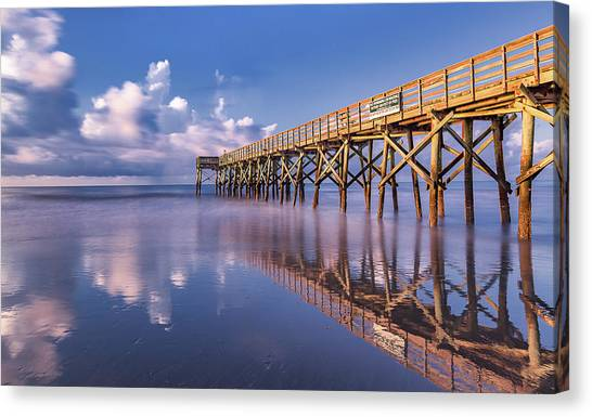 Morning Gold - Isle Of Palms, Sc Canvas Print
