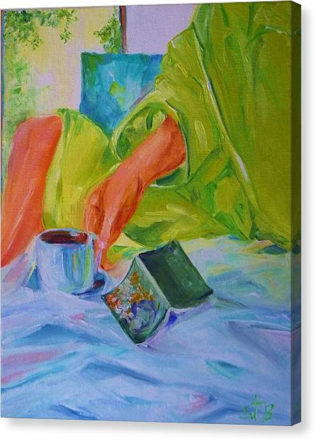 Morning Habit Canvas Print by Irit Bourla