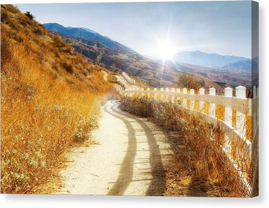 Canvas Print featuring the photograph Morning Hike by Alison Frank