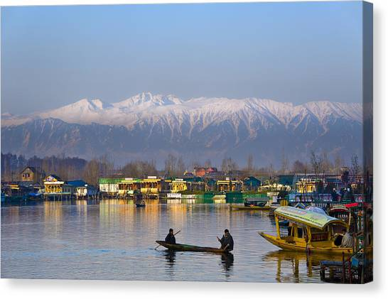 Morning In Kashmir Canvas Print