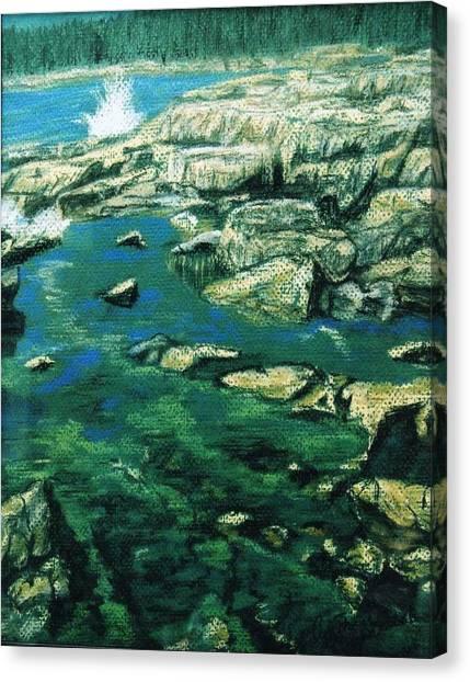 Morning In Maine Canvas Print by Cynthia Ann Swan