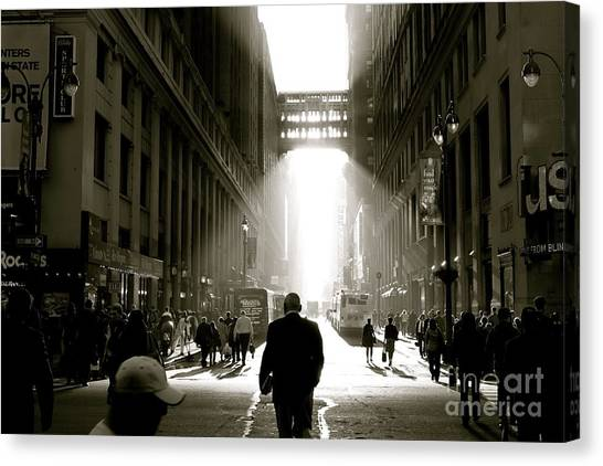 Morning In Manhattan Canvas Print by Jerry Patterson