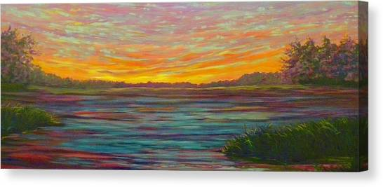Canvas Print featuring the painting Southern Sunrise by Jeanette Jarmon
