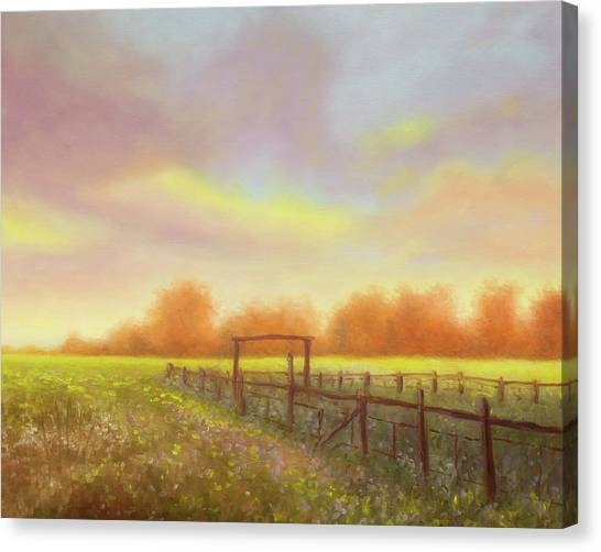 Morning In Texas - No 5 Canvas Print by Rob Blauser