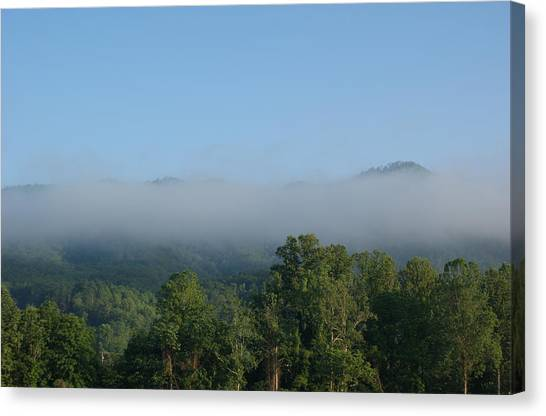 Morning In The Hills Of Tennessee Canvas Print by Terry Hoss