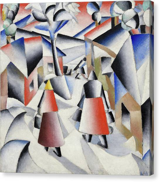 Suprematism Canvas Print - Morning In The Village After Snowstorm by Kazimir Malevich