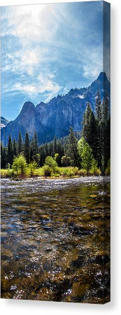 Yosemite Falls Canvas Print - Morning Inspirations 3 Of 3 by Az Jackson