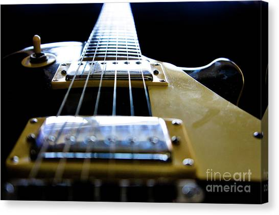 Guitar Picks Canvas Print - Morning Jam by Luke Aldington