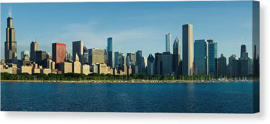 Morning Lakefront Canvas Print by Donald Schwartz