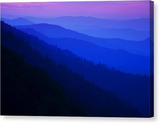 Mountain Sunrises Canvas Print - Morning Light by Andrew Soundarajan