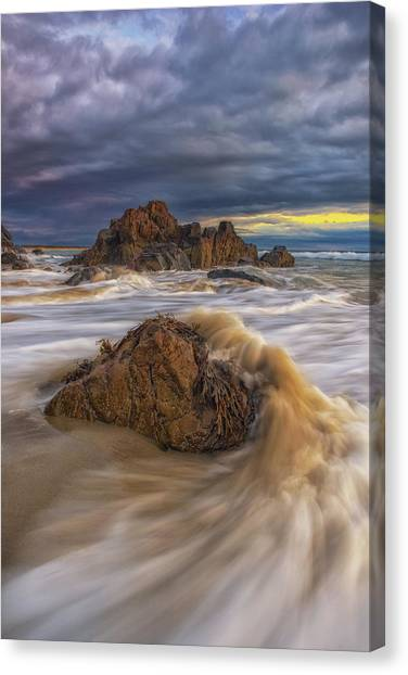 Morning Light At Marginal Way Canvas Print