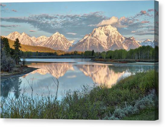 Morning Light At Oxbow Bend Canvas Print