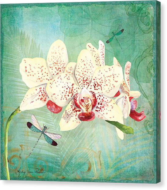 Morning Light - Dancing Dragonflies Canvas Print