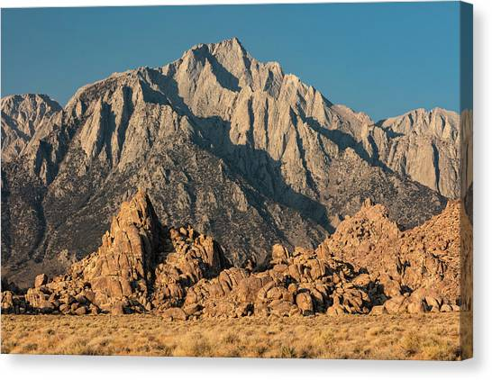 Canvas Print featuring the photograph Morning Light In The Alabama Hills by Stuart Gordon