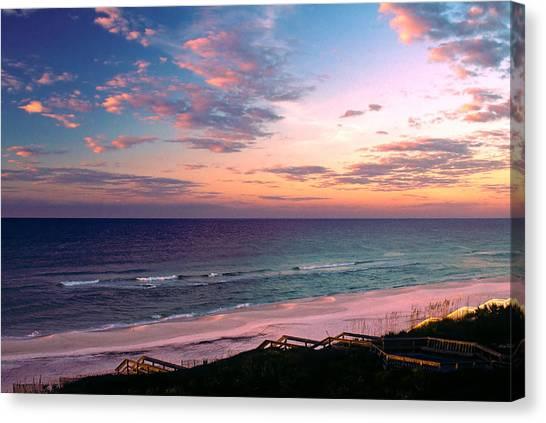 Morning Light On Rosemary Beach Canvas Print