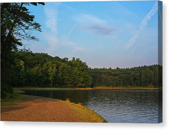 Walden Pond Canvas Print - Morning Light On Walden Pond Concord Ma by Toby McGuire