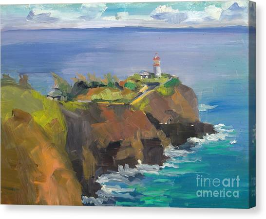 Morning Lighthouse Canvas Print by Cynthia Riedel