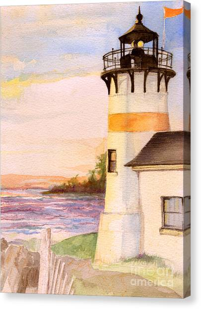 Morning, Lighthouse Canvas Print