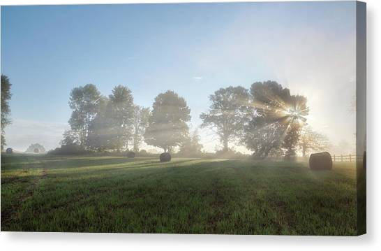 Rural Landscapes Canvas Print - Morning Lights by Bill Wakeley