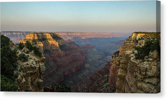 Morning Lights Wotans Throne Canvas Print