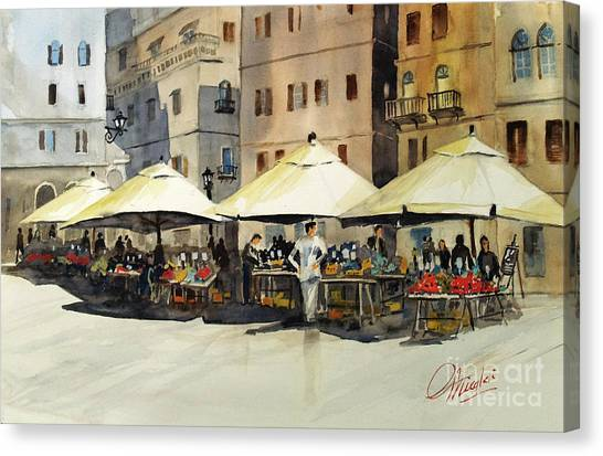 Morning Market Canvas Print