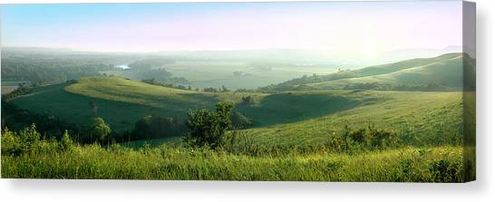 Morning Mist - Kansas River Valley Canvas Print