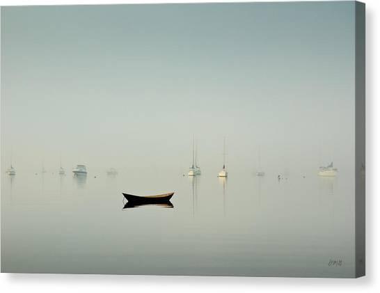 Morning Mist Bristol Harbor Canvas Print