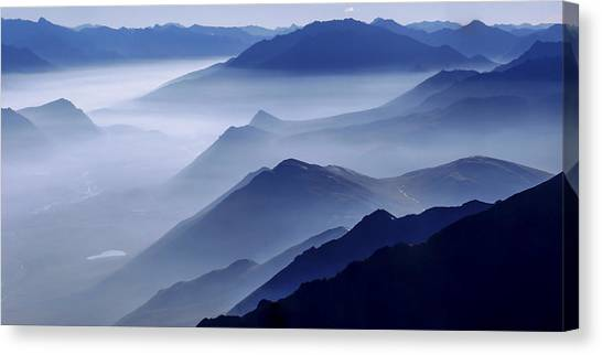 Mountains Canvas Print - Morning Mist by Chad Dutson