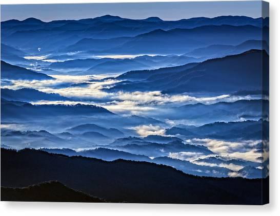 Smokey Mountains Canvas Print - Morning Mist In The Smokies by Rick Berk