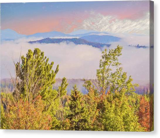 Morning Mountain View Northern New Hampshire. Canvas Print