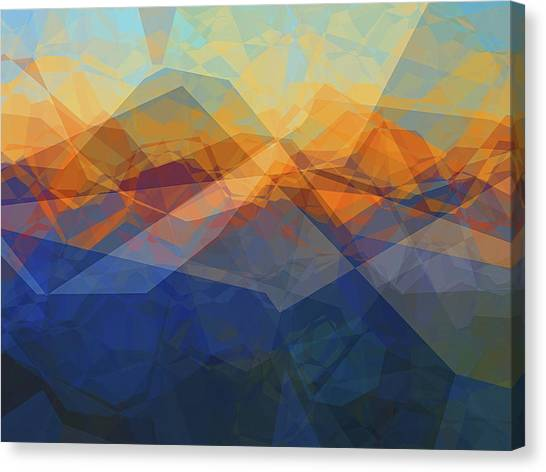 Mountain View Canvas Print - Morning Mountain View by Wendy J St Christopher