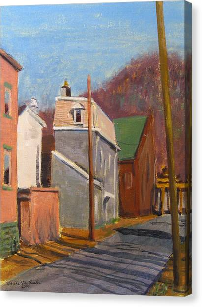 Morning On 50th Street Canvas Print by Martha Ressler