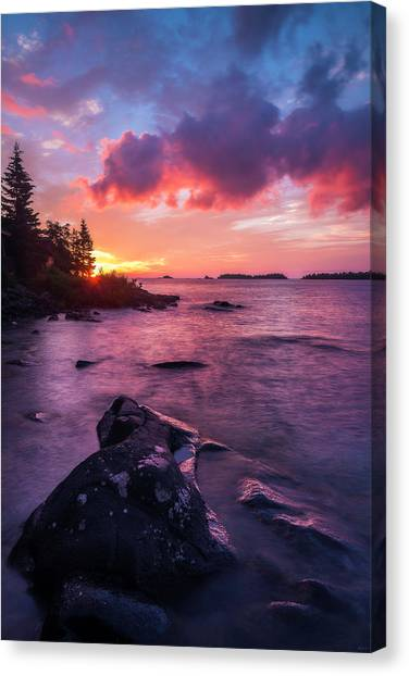 Canvas Print featuring the photograph Morning On Isle Royale by Owen Weber