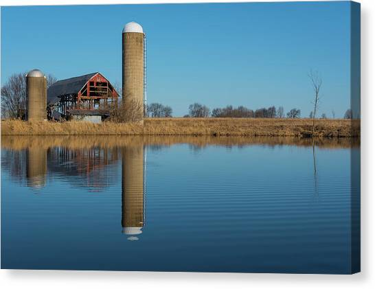 Morning On The Farm Canvas Print