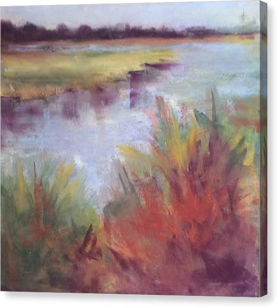 Morning On The Marsh Canvas Print