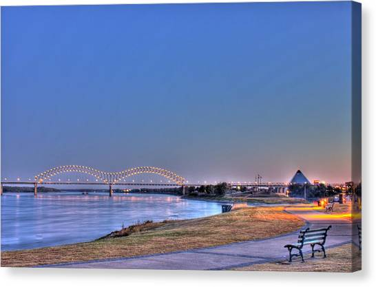 Morning On The Mississippi Canvas Print