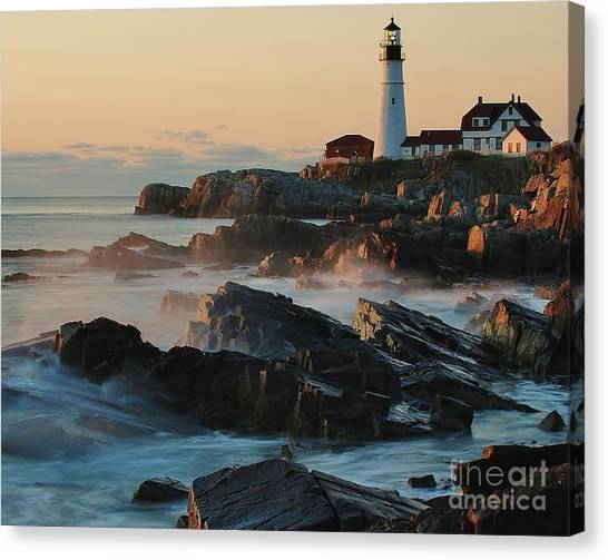 Morning On The Rocks Canvas Print