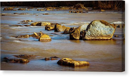 Morning On The Rocky River Canvas Print