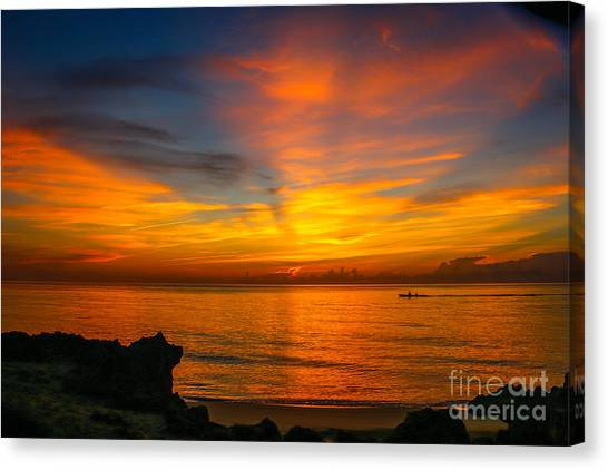 Morning On The Water Canvas Print