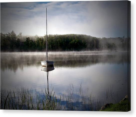 Morning On White Sand Lake Canvas Print