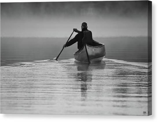 Morning Paddle Canvas Print