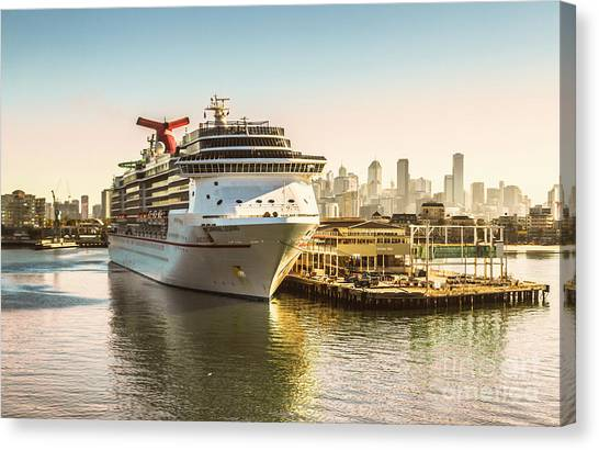Travel Destinations Canvas Print - Morning Port by Jorgo Photography - Wall Art Gallery