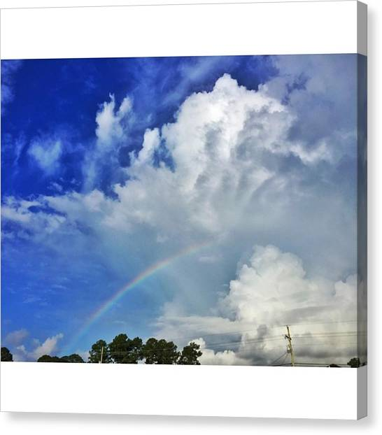 Mississippi Canvas Print - Morning Rainbow #enlight #sky by Joan McCool