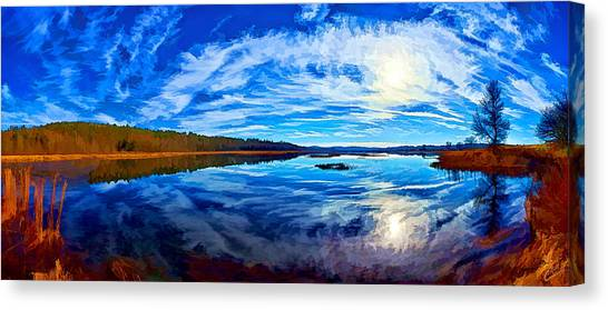 Morning Reflections At The Moosehorn Canvas Print