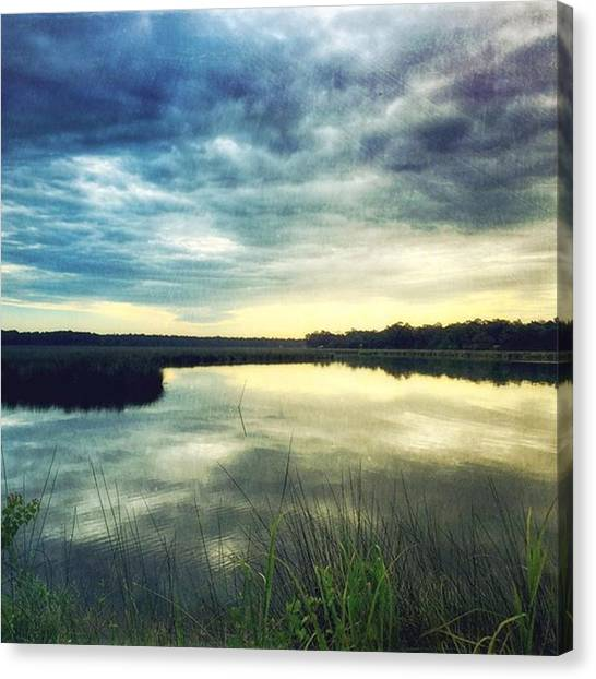 Swamps Canvas Print - Morning Reflections #bayou by Joan McCool