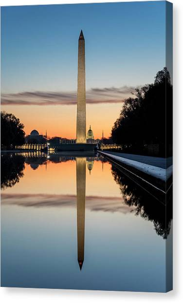 Canvas Print featuring the photograph Morning Reflections by Ryan Wyckoff