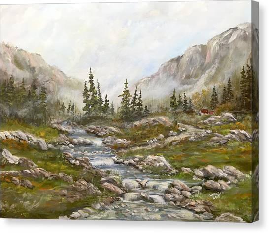 Morning Rising Fog Canvas Print
