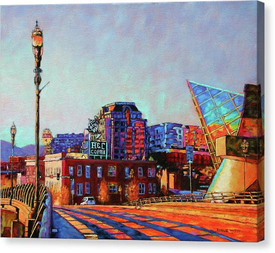 Dr. Pepper Canvas Print - Morning Rush - The Corner Of Salem Avenue And Williamson Road In Roanoke Virginia by Bonnie Mason