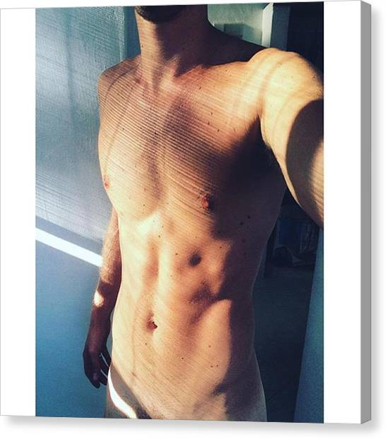 Torso Canvas Print - Morning #selfie #gays #gay #gaysofinsta by Steven Retchless